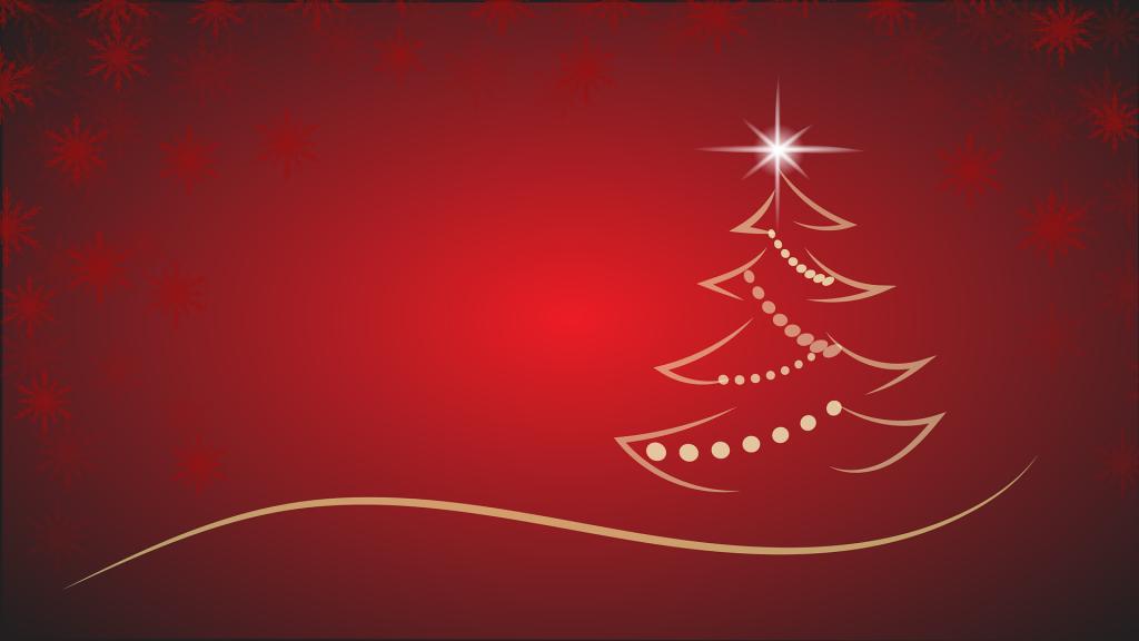 Weihnachtsbaum auf roten Hintergrund als Skizze.